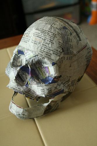 Paper Mache Skull