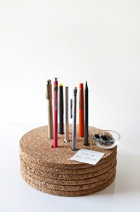 DIY cork pencil holder