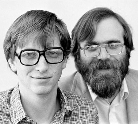 Bill Gates with Paul Allen