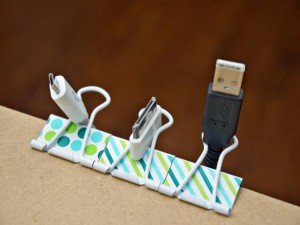 Binder Clip Cord Organizer