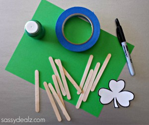 St. Patrick's Day Popsicle Stick Craft