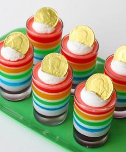 St. Patrick's Day Rainbow Jell-o