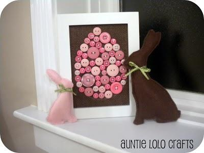 Bunny Button Easter card craft