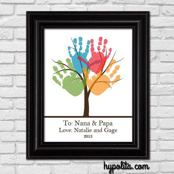 baby handprints family tree
