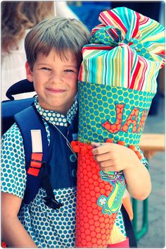 Boy Holding Gifts