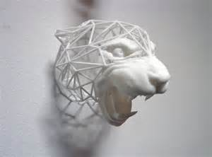 3D-printed fanged lion