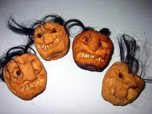 shrunken pumpkin heads
