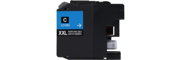 LC105C Ink Cartridge - Brother Compatible (Cyan)