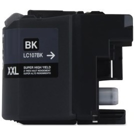 LC107BK Ink Cartridge - Brother Compatible (Black)