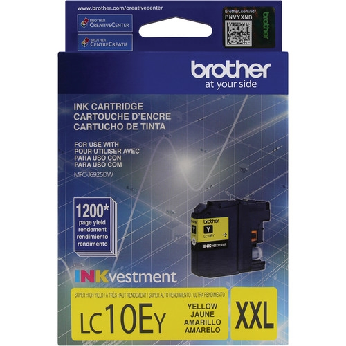 LC10EY Ink Cartridge - Brother Genuine OEM (Yellow)