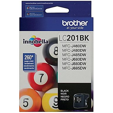 LC201BK Ink Cartridge - Brother Genuine OEM (Black)