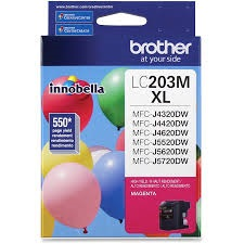 LC203M Ink Cartridge - Brother Genuine OEM (Magenta)