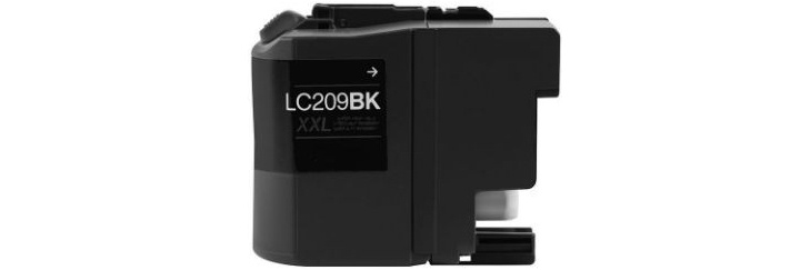 LC209BK Ink Cartridge - Brother Compatible (Black)