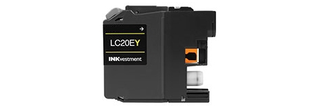 LC20EY Ink Cartridge - Brother Compatible (Yellow)