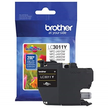 LC3011Y Ink Cartridge - Brother Genuine OEM (Yellow)