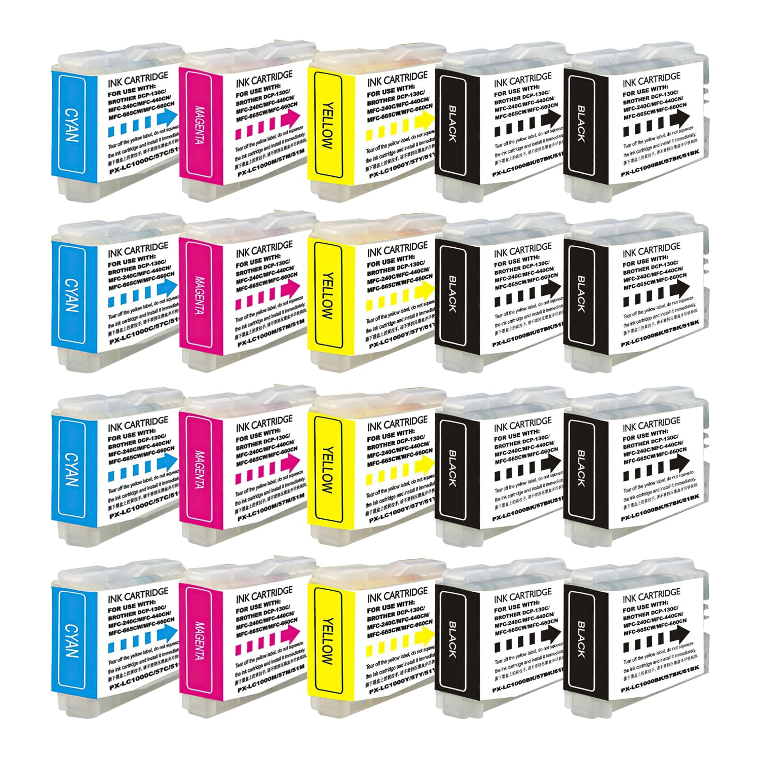 Compatible Brother LC51 Inkjet Pack - 20 Cartridges