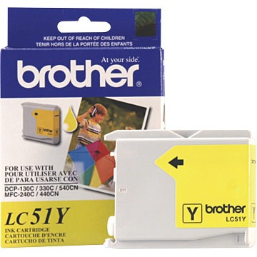LC51Y Ink Cartridge - Brother Genuine OEM (Yellow)