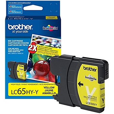 LC65Y Ink Cartridge - Brother Genuine OEM (Yellow)
