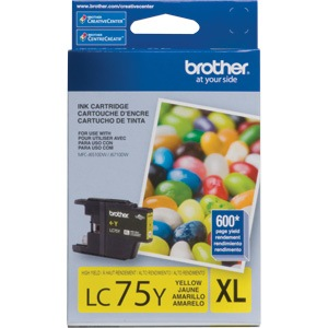 LC75Y Ink Cartridge - Brother Genuine OEM (Yellow)