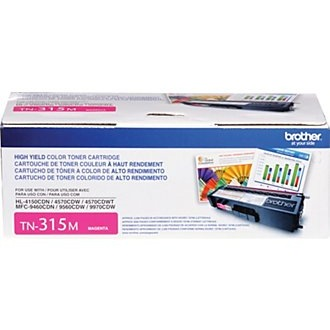 TN315M Toner Cartridge - Brother Genuine OEM (Magenta)