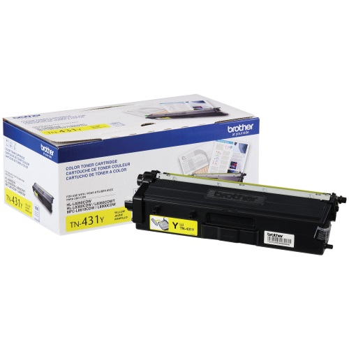 TN431Y Toner Cartridge - Brother Genuine OEM (Yellow)