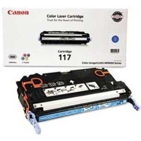 117 Cyan Toner Cartridge - Canon Genuine OEM (Cyan)