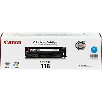 118 Cyan Toner Cartridge - Canon Genuine OEM (Cyan)