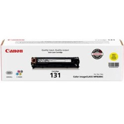 131 Yellow Toner Cartridge - Canon Genuine OEM (Yellow)