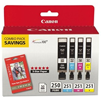 6497B004 Ink Cartridge - Canon Genuine OEM (Bundle Pack)