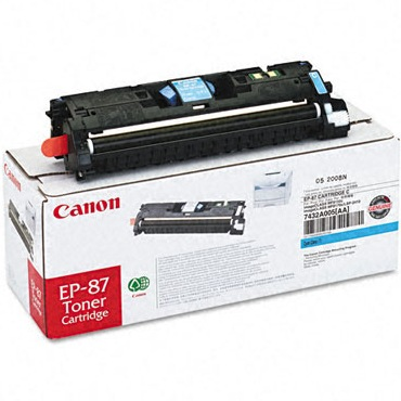 EP-87 Cyan Toner Cartridge - Canon Genuine OEM (Cyan)