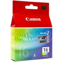 BCI-16C Ink Cartridge - Canon Genuine OEM (Color)