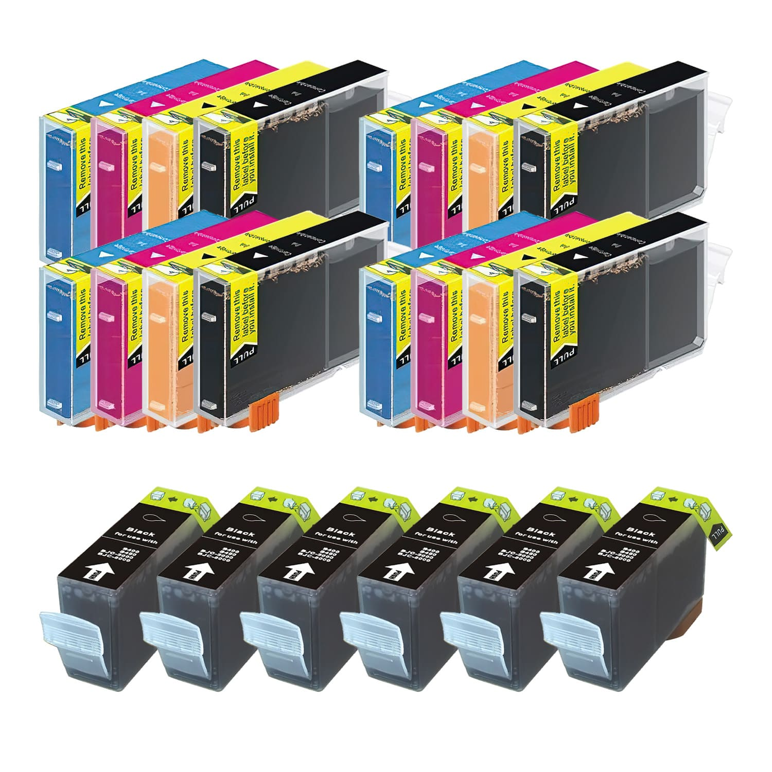 Compatible Canon BCI-6-BCI-3 Inkjet Pack - 22 Cartridges
