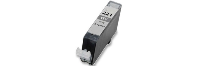 CLI-221GY Ink Cartridge - Canon Compatible (Gray)