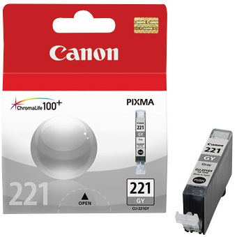 CLI-221GY Ink Cartridge - Canon Genuine OEM (Gray)