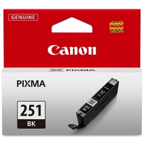 CLI-251BK Ink Cartridge - Canon Genuine OEM (Black)