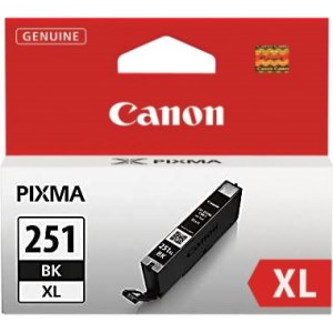 CLI-251BK XL Ink Cartridge - Canon Genuine OEM (Black)