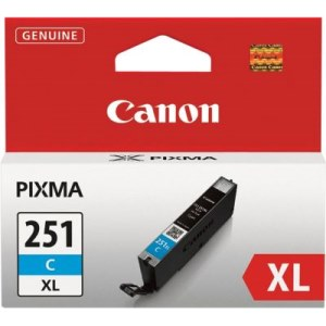 CLI-251C XL Ink Cartridge - Canon Genuine OEM (Cyan)