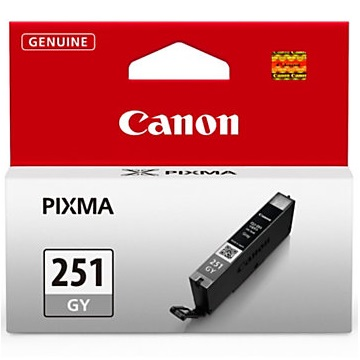 CLI-251GY Ink Cartridge - Canon Genuine OEM (Gray)