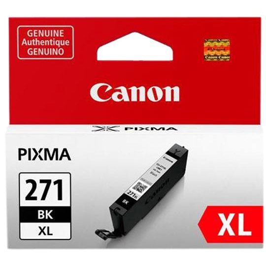 CLI-271XL BK Ink Cartridge - Canon Genuine OEM (Black)