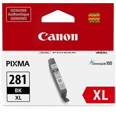 CLI-281XL BK Ink Cartridge - Canon Genuine OEM (Black)