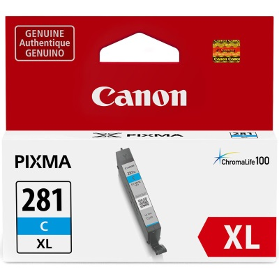 CLI-281XL C Ink Cartridge - Canon Genuine OEM (Cyan)