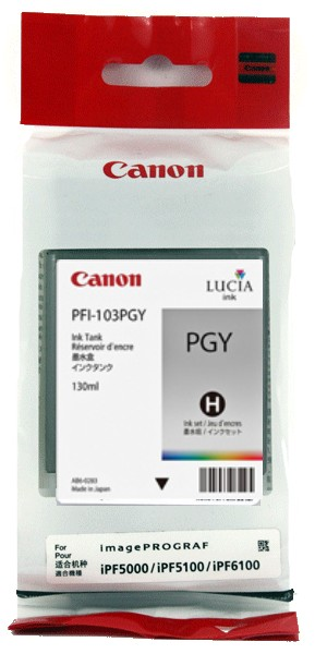 PFI-103PGY Ink Cartridge - Canon Genuine OEM (Photo Gray)