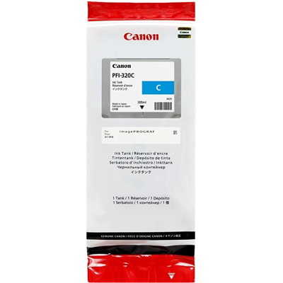 PFI-320C Ink Cartridge - Canon Genuine OEM (Cyan)