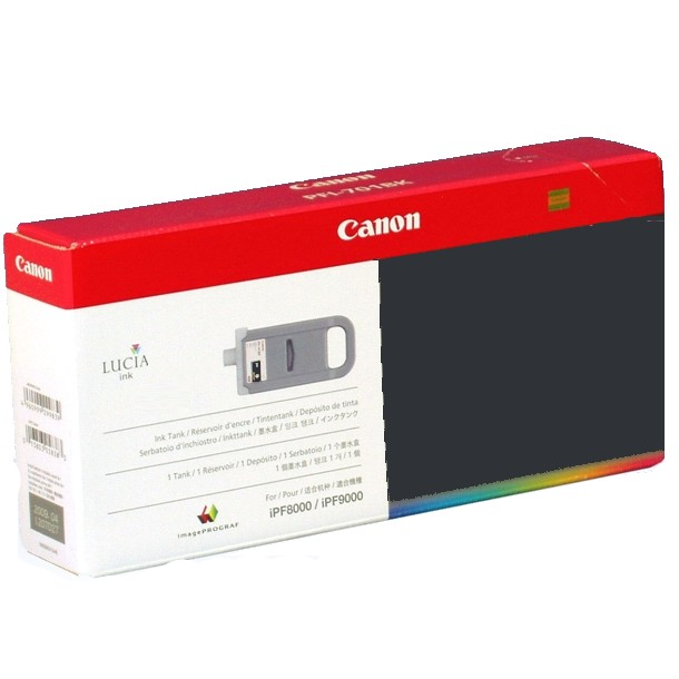 PFI-701MBK Ink Cartridge - Canon Genuine OEM (Matte Black)