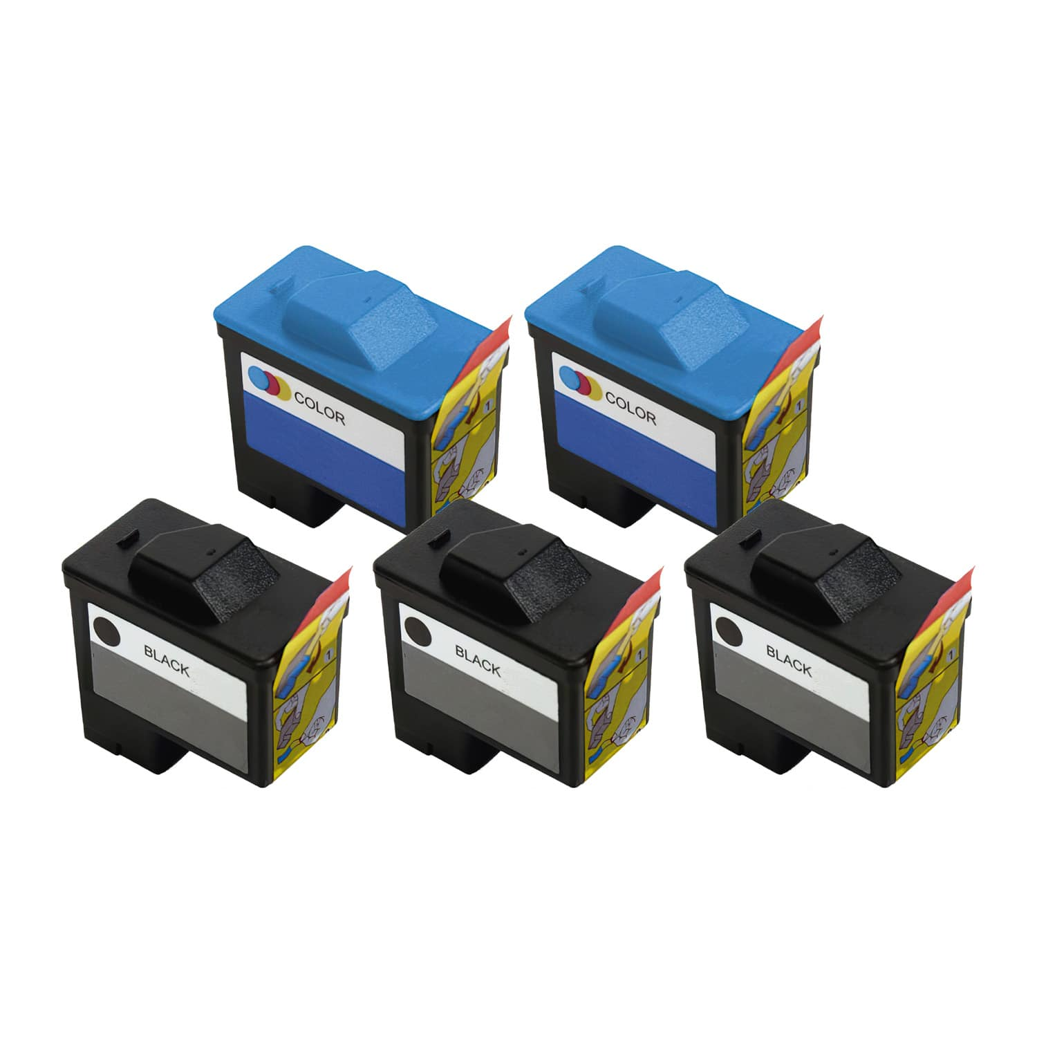 Remanufactured Dell Series 1 Inkjet Pack - 5 Cartridges