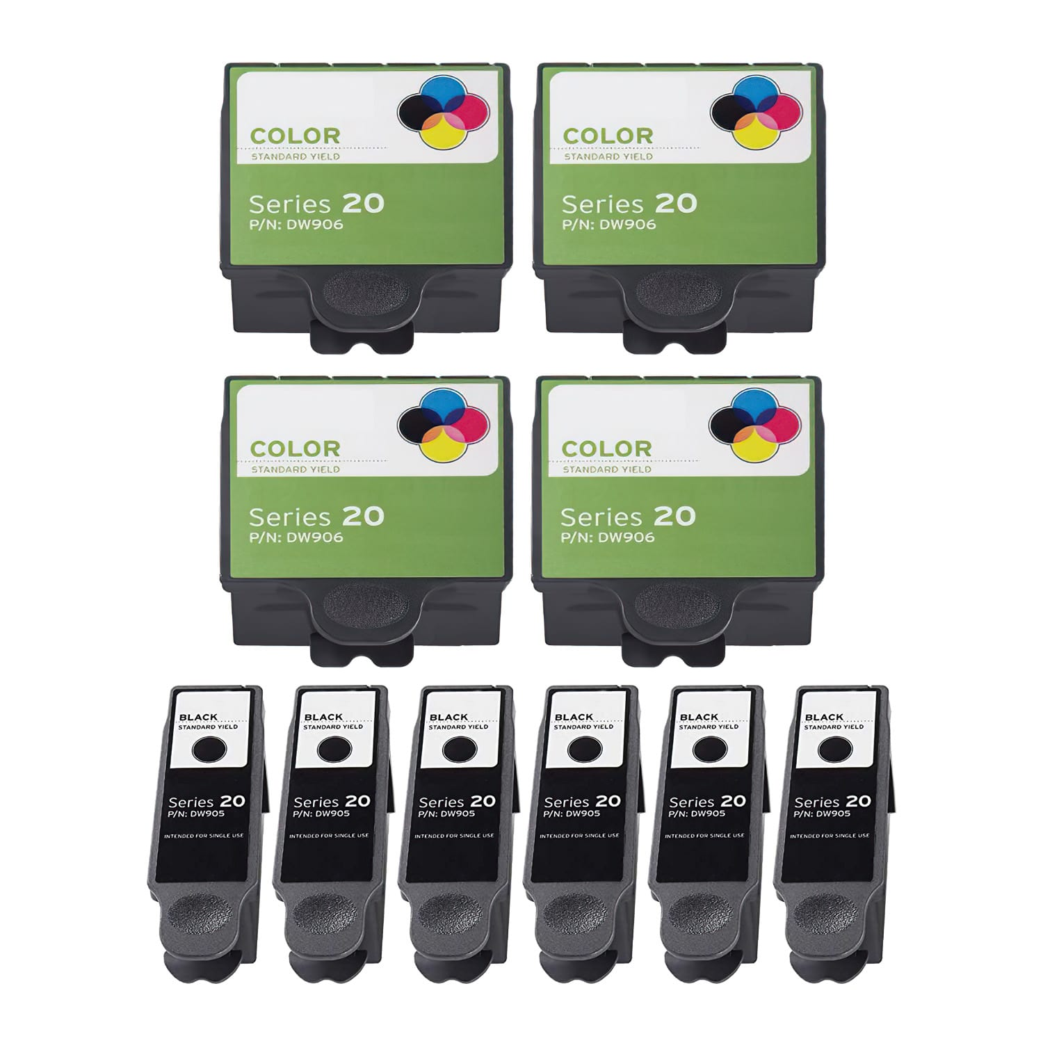 Compatible Dell Series 20 Inkjet Pack - 10 Cartridges