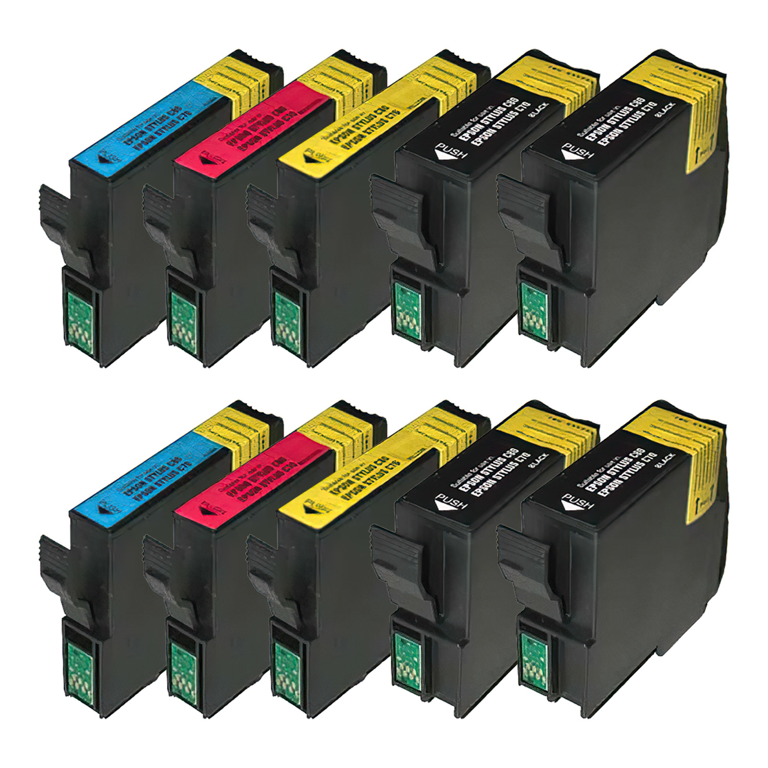 Remanufactured Epson 32 Inkjet Pack - 10 Cartridges