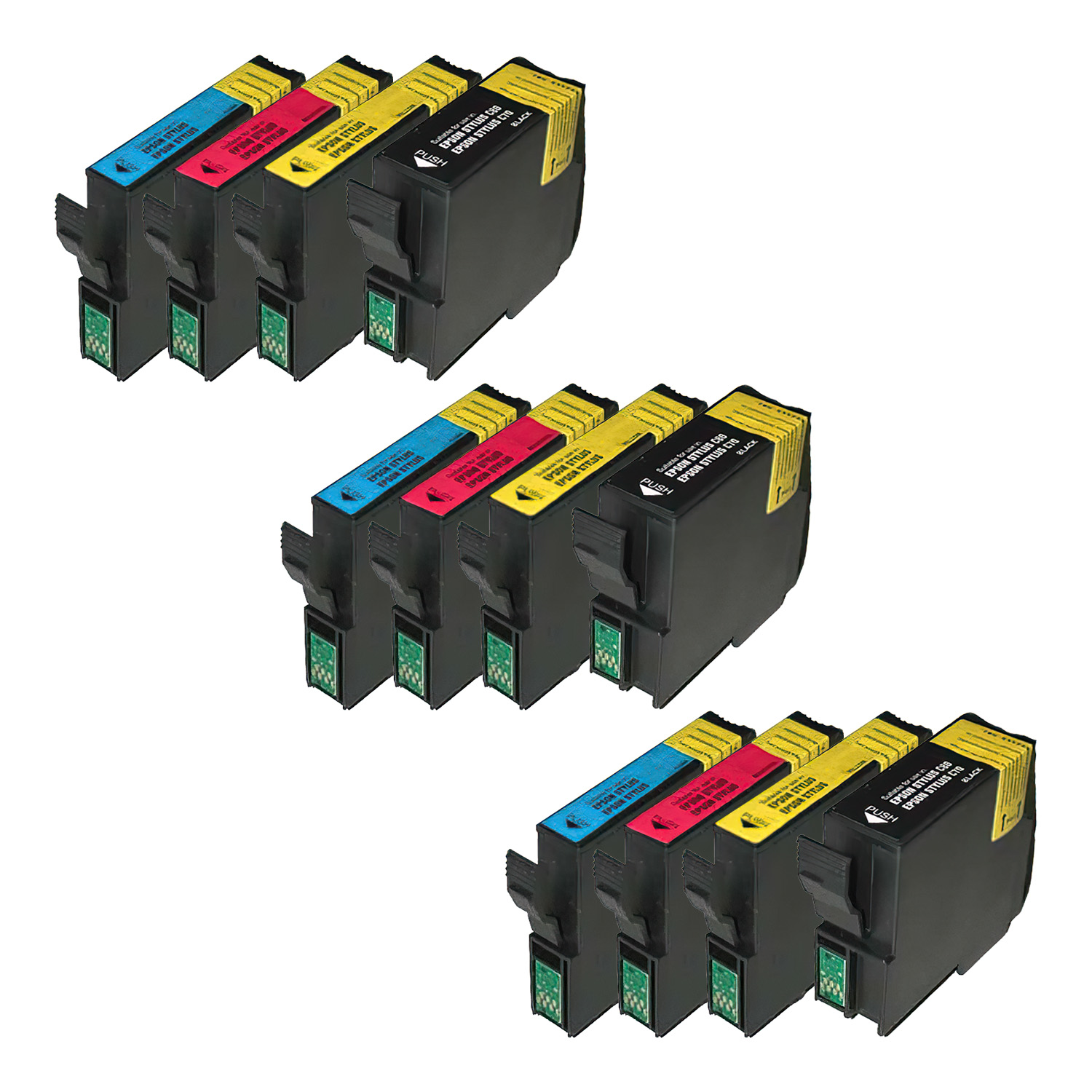 Remanufactured Epson 42-32 Inkjet Pack - 12 Cartridges