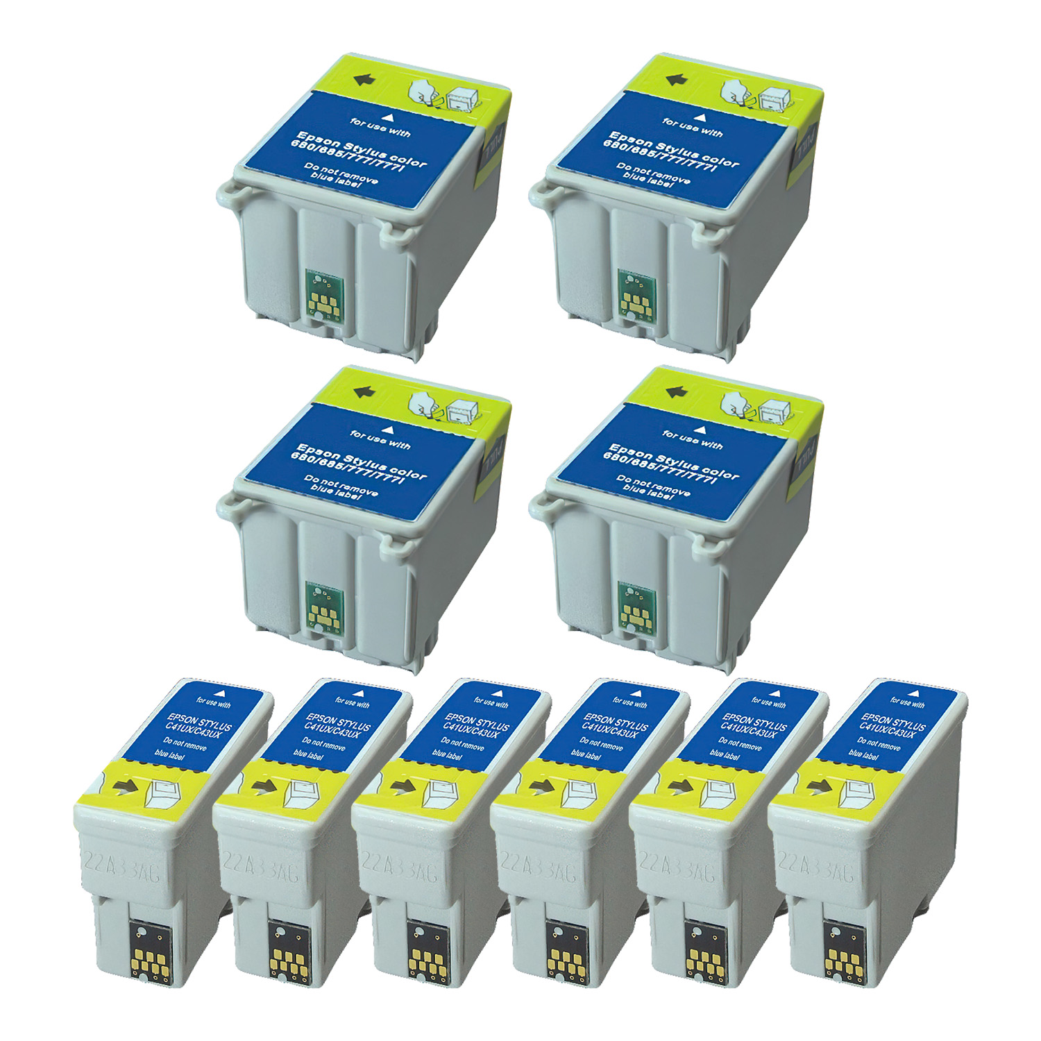 Remanufactured Epson T016-T015 Inkjet Pack - 10 Cartridges