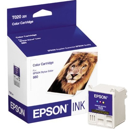 T020201 Ink Cartridge - Epson Genuine OEM (Color)